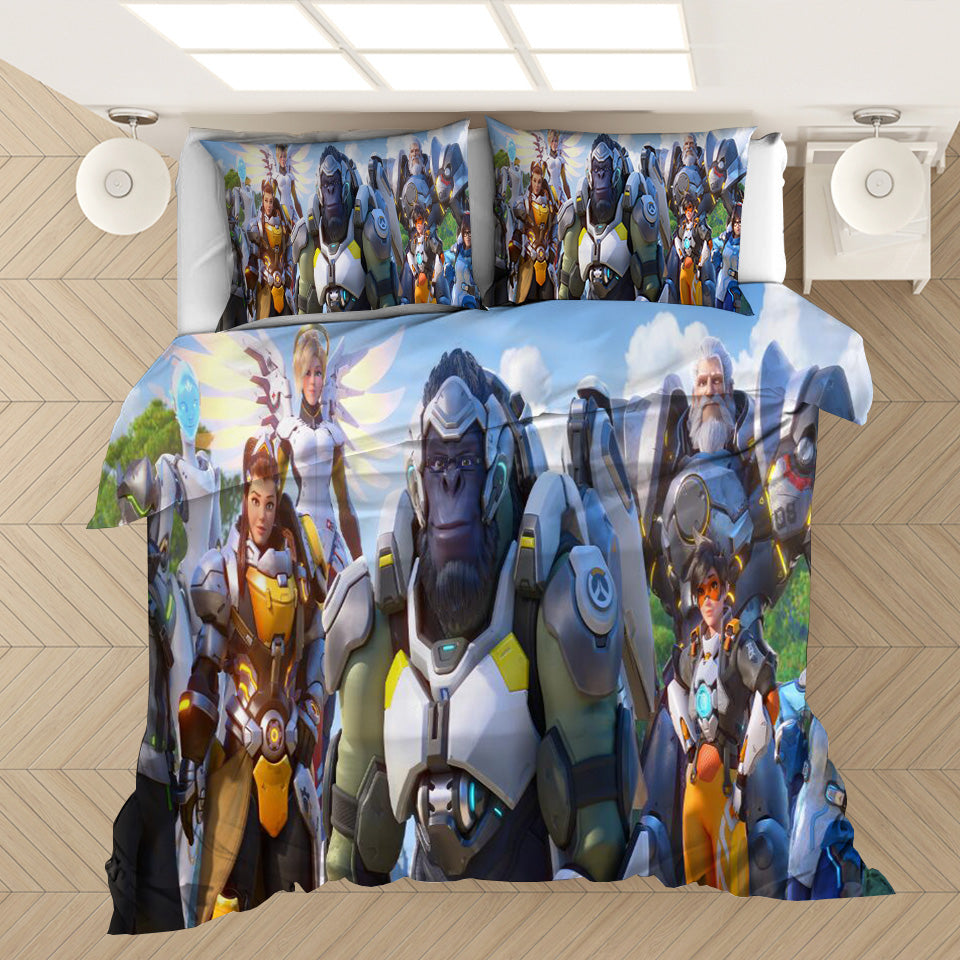 Game Overwatch #28 Duvet Cover Quilt Cover Pillowcase Bedding Set Bed Linen Home Decor