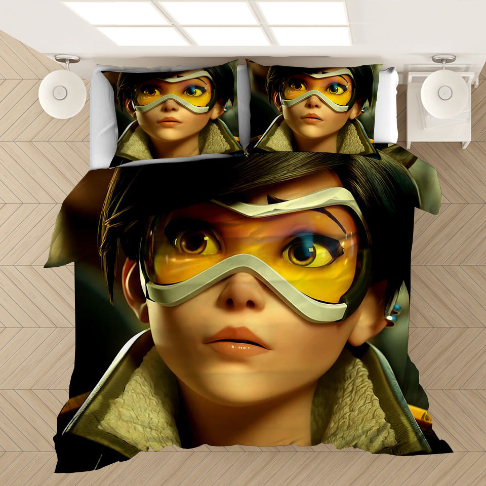 Game Overwatch Tracer #29 Duvet Cover Quilt Cover Pillowcase Bedding Set Bed Linen Home Decor
