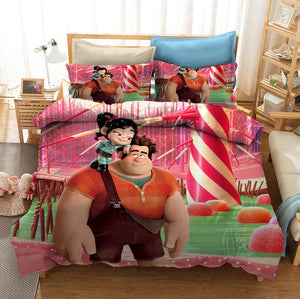 Wreck It Ralph #3 Duvet Cover Quilt Cover Pillowcase Bedding Set Bed Linen Home Bedroom Decor