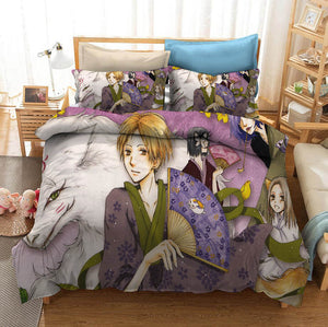 Natsume Yuujinchou Natsume's Book of Friends #2 Duvet Cover Quilt Cover Pillowcase Bedding Set Bed Linen Home Bedroom Decor