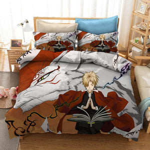 Natsume Yuujinchou Natsume's Book of Friends #3 Duvet Cover Quilt Cover Pillowcase Bedding Set Bed Linen Home Bedroom Decor
