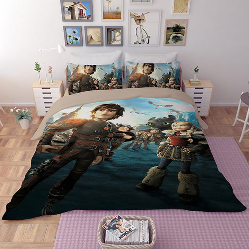 How to Train Your Dragon Hiccup #28 Duvet Cover Quilt Cover Pillowcase Bedding Set Bed Linen