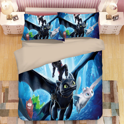 How to Train Your Dragon Hiccup #25 Duvet Cover Quilt Cover Pillowcase Bedding Set Bed Linen