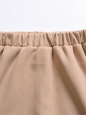 [PO] Mini A-line Skirt (Khaki)
