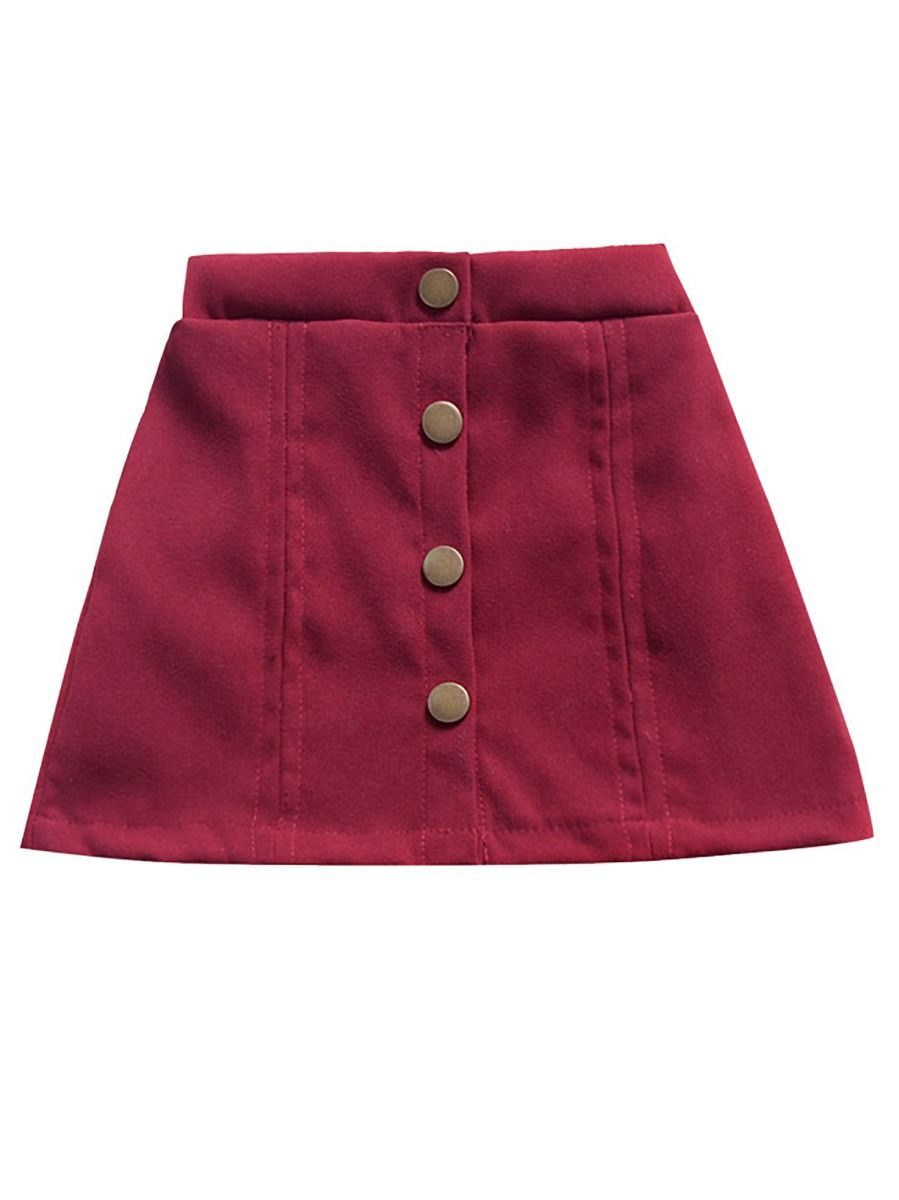 [PO] Mini A-line Skirt (Red)