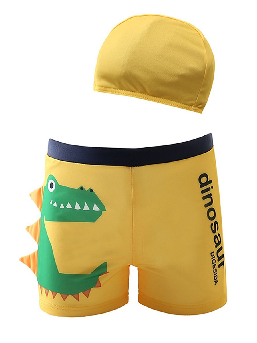 [PO] Little Green Dino Swimming Trunk Set