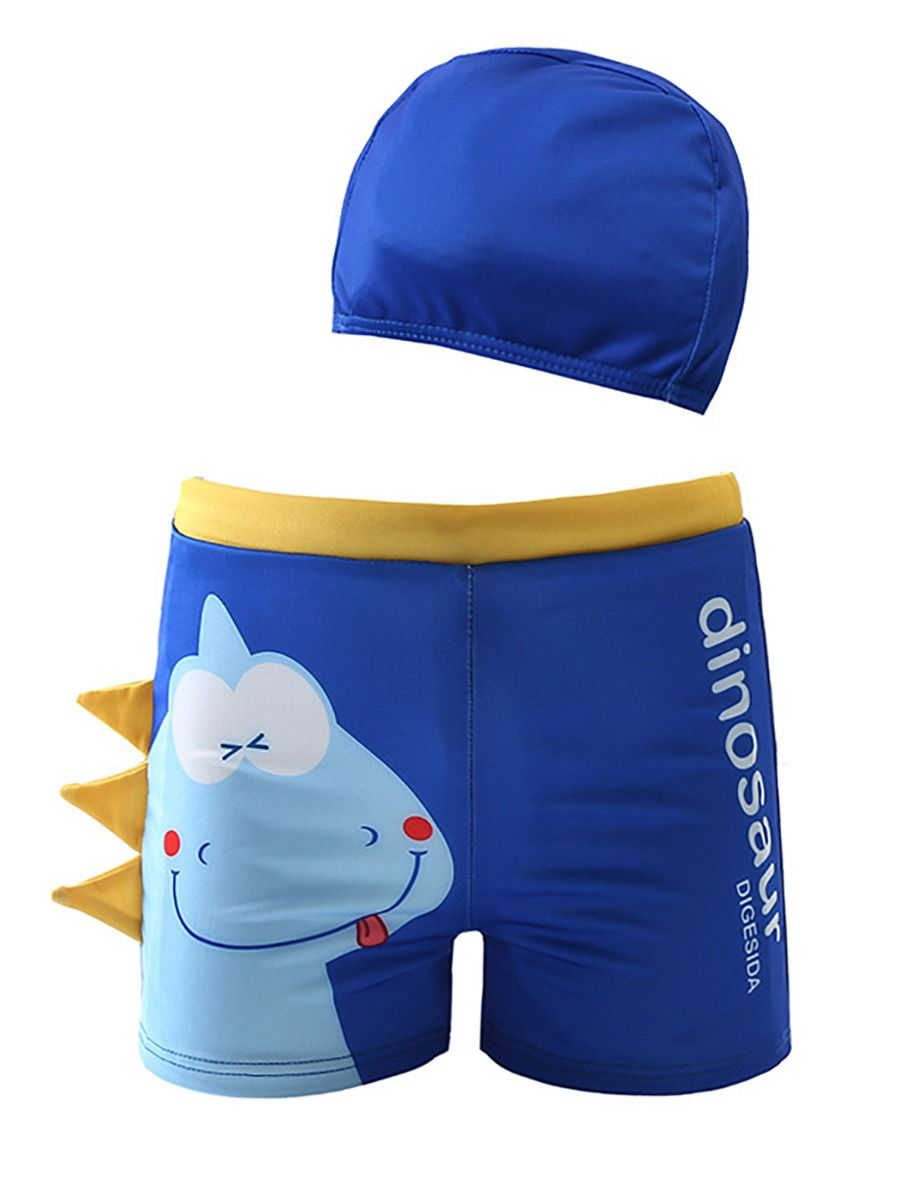 [PO] Little Blue Dino Swimming Trunk Set <B>
