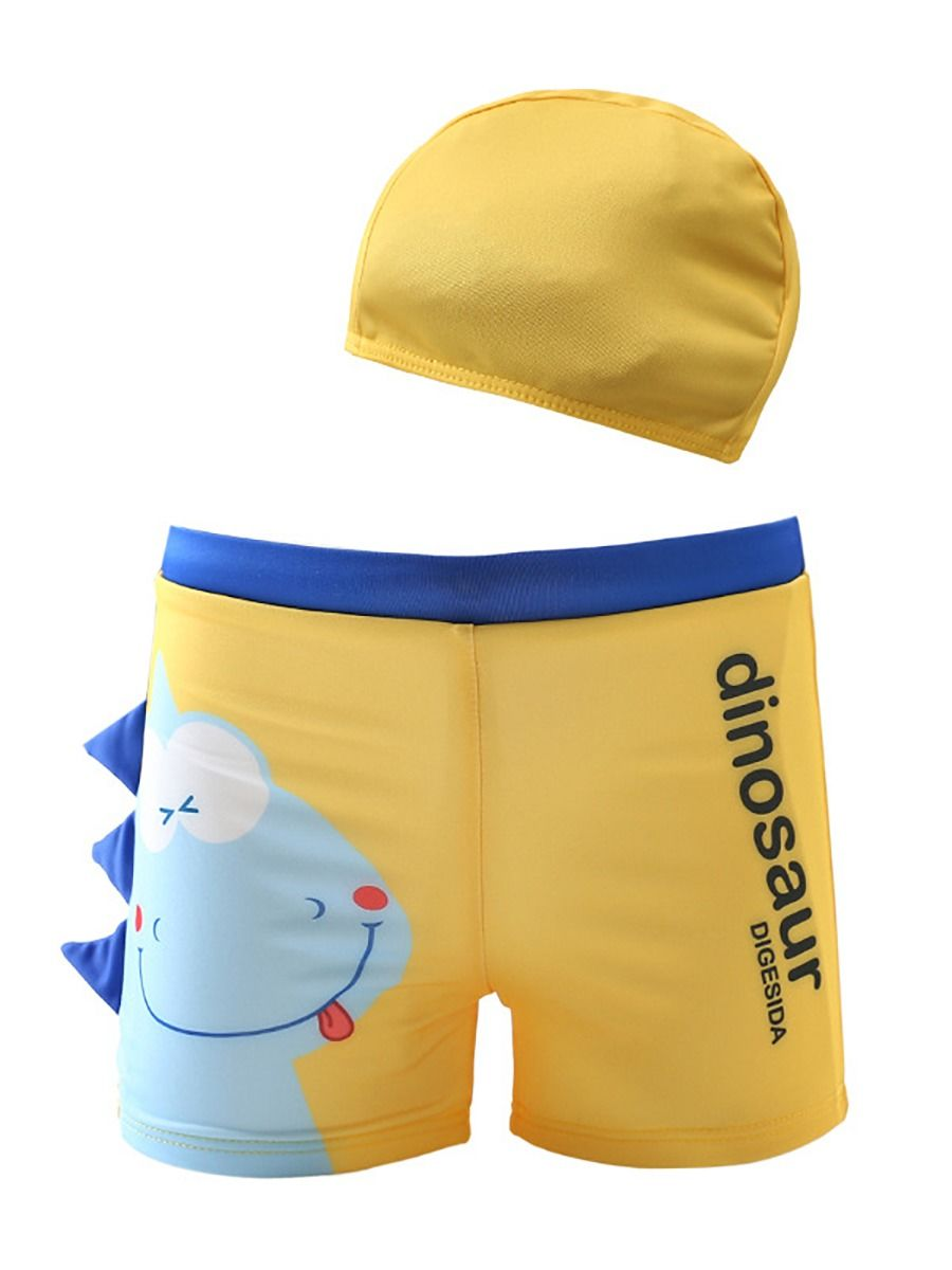 [PO] Little Blue Dino Swimming Trunk Set <Y>