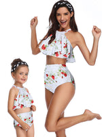 [PO] <M&M> Halterneck Rose White Swimwear