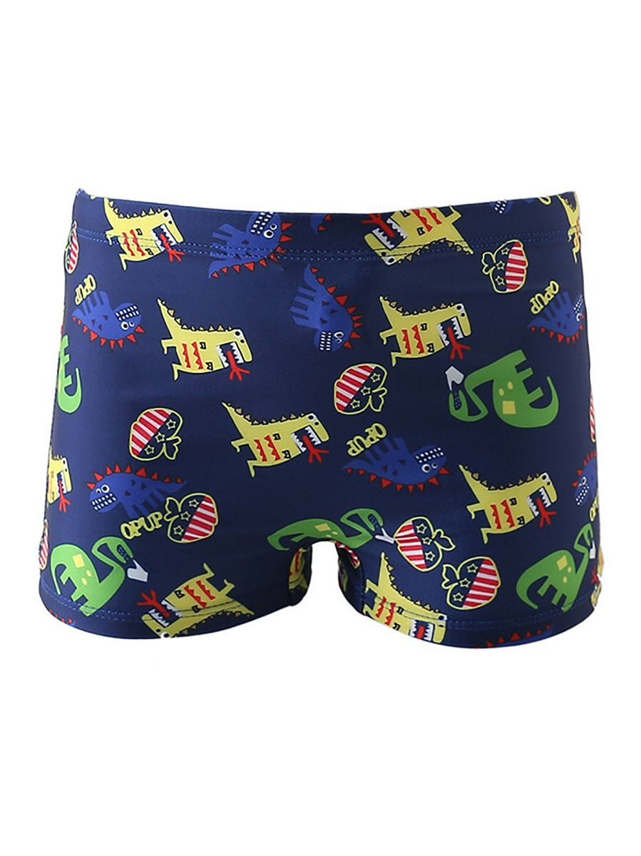 [PO] Dino World Swimming Trunk Set <Blue>