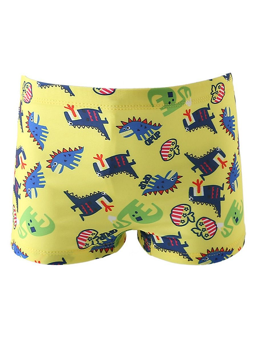 [PO] Dino World Swimming Trunk Set <Yellow>