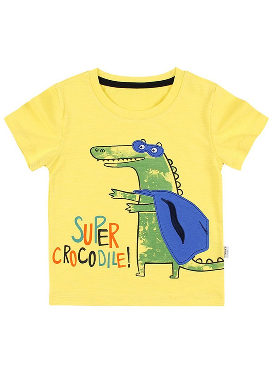 [PO] Super Crocodile T-Shirt (Yellow)