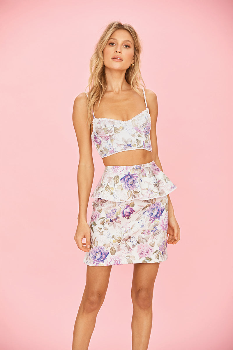 703be52b64 ... Floral Print Gardenia Skirt - Beach Riot