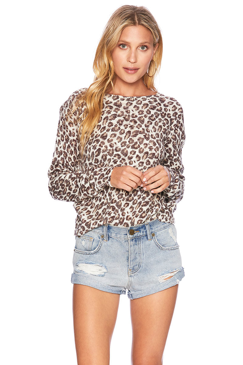 size 7 authentic new images of Leopard Sweater
