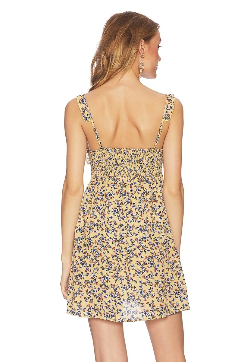 10462fe2fc ... Yellow-Floral-Olivia-Dress-Beach-Riot-Back ...