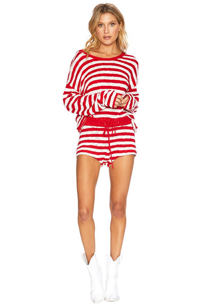 46120cfd0e Sandy-Short-Red-White-Stripe-Beach-Riot-Front