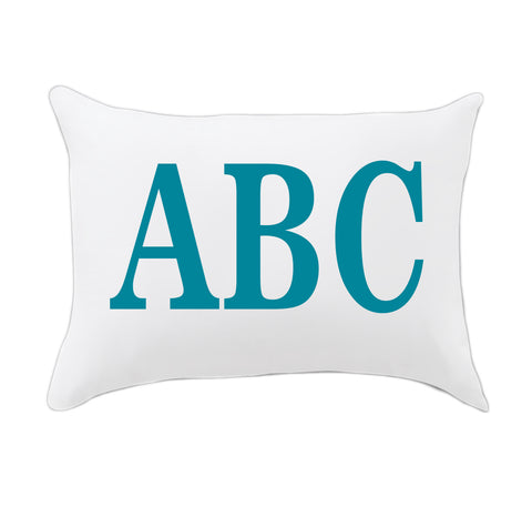 Boy Teal Initials Travel Pillowcase