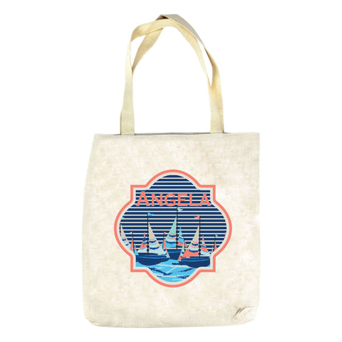 Sailboat Name Tote Bag