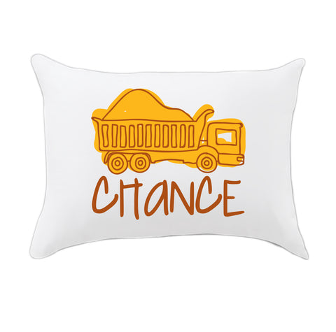 Dumptruck Name Travel Pillowcase