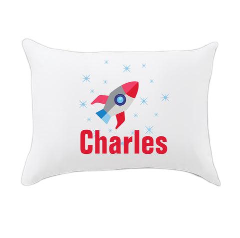 Rocket Name Travel Pillowcase