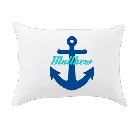 Boys Anchor Name Travel Pillowcase