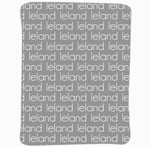 New Light Weight Gray Name Blanket