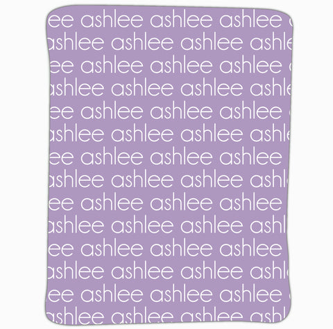 New Light Weight Purple Name Blanket