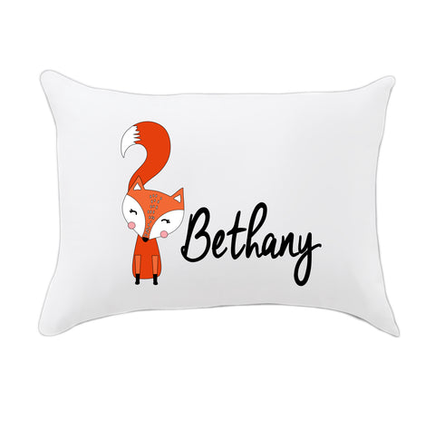 Girl Fox Name Travel Pillowcase