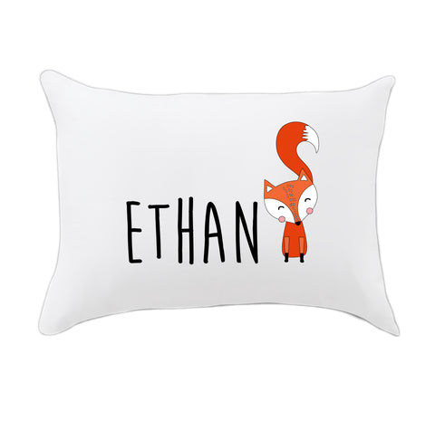 Boy Fox Name Travel Pillowcase
