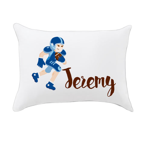 Football Player Name Travel Pillowcase