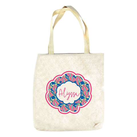 Blue Shell Name Tote Bag