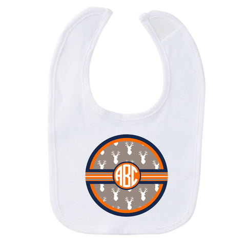 Tan Deer Initial Fleece Bib
