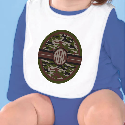 Camo Initial Fleece Bib