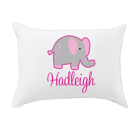 Elephant Name Travel Pillowcase