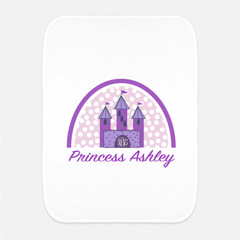 Princess Name & Initial Fleece Burp Cloth
