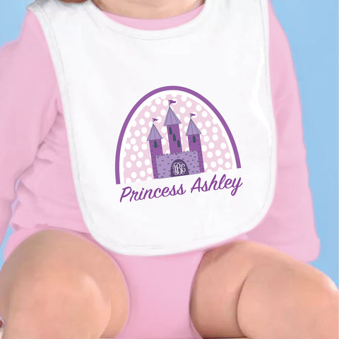 Princess Name & Initial Fleece Bib