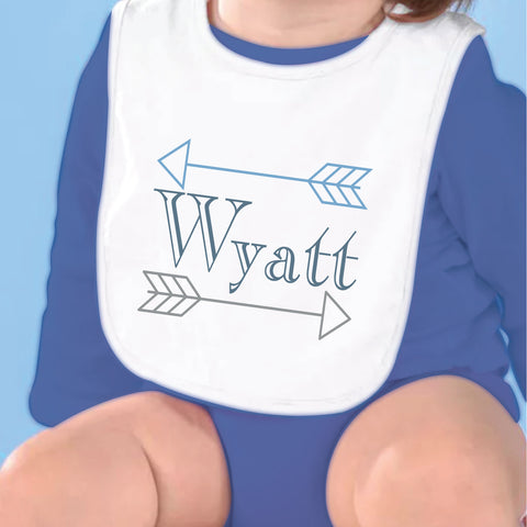 Arrow Name Fleece Bib