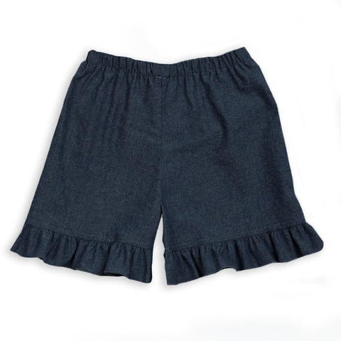 Girls Dark Denim Short