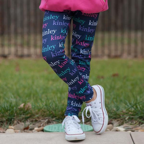Girls Lowercase Name Arden Leggings