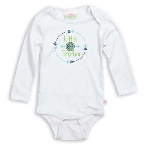 Arrow Initials Sibling Onesie