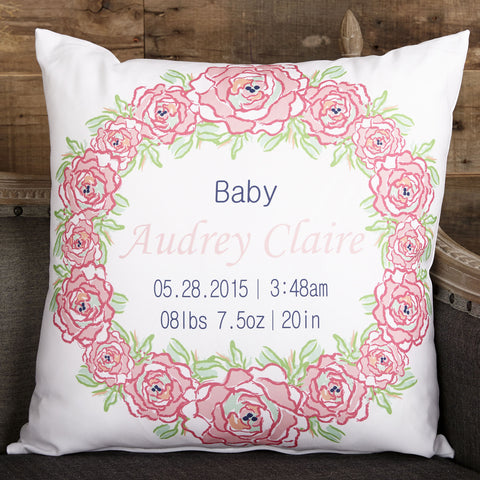 Roses Circle Pillow Cover