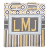 Geo Stripe Minky Initial Carseat Cover