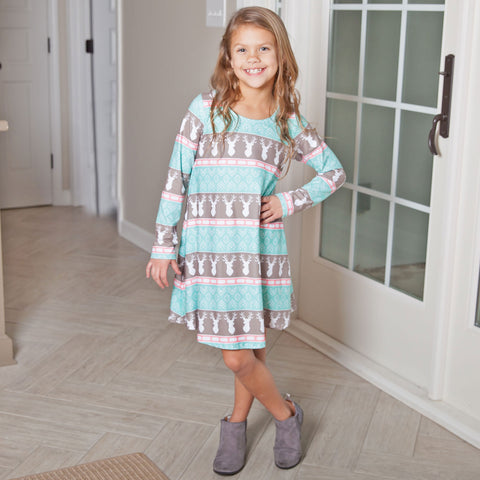Aztec Deer Charlee Dress