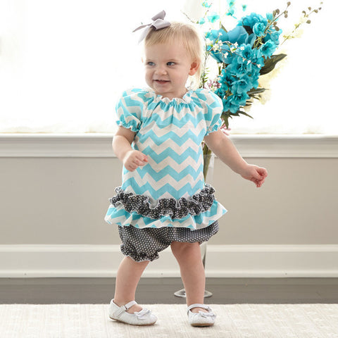 Chevron Dot Bloomer Set