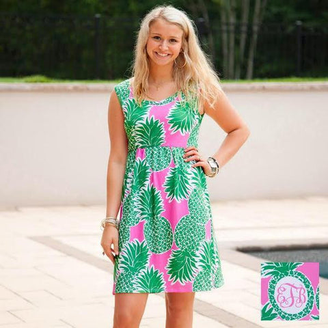 Pineapple Jade Tank Dress