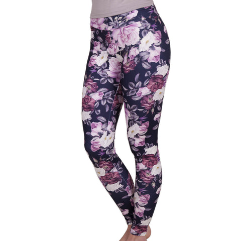 Ladies Floral Bouquet Yoga Leggings