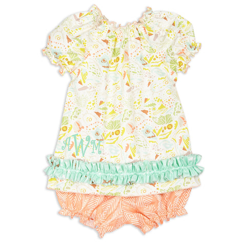 Bird Geo Bloomer Set