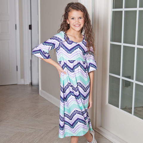 Chevron Liv Dress