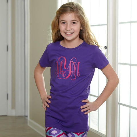 Purple Initials Tee