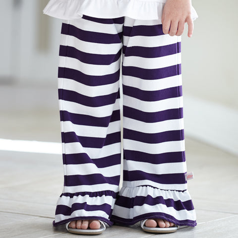 Purple Stripe Cotton Pant